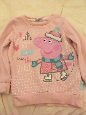 Girls pink peppa Christmas jumper 4 years