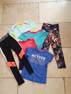 Girls Sports Running Tops & Leggings Bundle Sizes 6-8, 7-8, 8, 8-9, 10