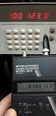 OPTOELECTRONICS  portable battery operated handheld 3 GHZ frequency counter 2810