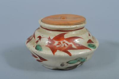 K3034: Japanese Old Kiyomizu-ware TEA CADDY Chaire Container, Dohachi made