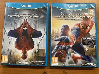 Wiiu The Amazing Spider-Man Ultimate Edition + The Amazing Spider-Man 2 Italiani