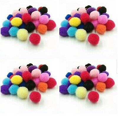 QUALITY POM POMS -Packs of 50-150 MIXED COLOURS & SIZES Fluffy CRAFTS CARDMAKING