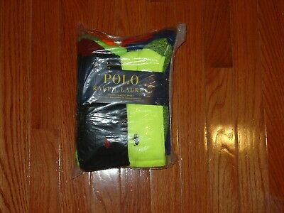 Polo Ralph Lauren Neon Marled Athletic Crew Sock 6-Pack