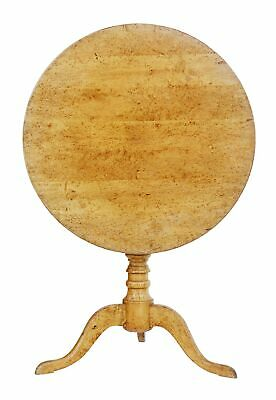 19Th Century Burr Birch Round Tilt Top Occasional Table