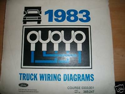 1983 Ford F150 F250 F350 Wiring Diagrams Schematics Manual Sheets Set
