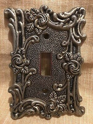 1967 Vintage Victorian  Switch Plate Cover Roses Relief Design AMER TACK HOWE.