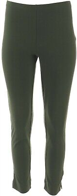 Women with Control Petite Slim Leg Ankle Pants Olive PL NEW A306481