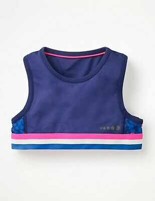 BNWT Boden Girls Active Sports Crop Top Size 5-6 years Exercise Gym