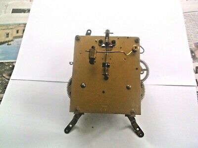 MECHANISM  FROM AN OLD HALLER MANTLE CLOCK working order ref HAL 5