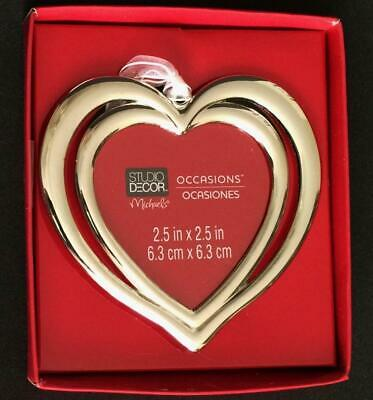 Christmas Tree Ornament Photo Picture Frame Heart Valentines Day NEW NO year