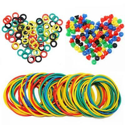 ITATOO Colorful Tattoo Grommets Nipples O Ring and Rubber Bands 300 Pcs