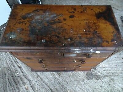 Antique Victorian Pine Chest Of Draws Original pitch Pine industrial cabinet