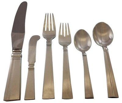 Blok by Georg Jensen Sterling Silver Flatware Set 12 Service 72 Pcs Dinner