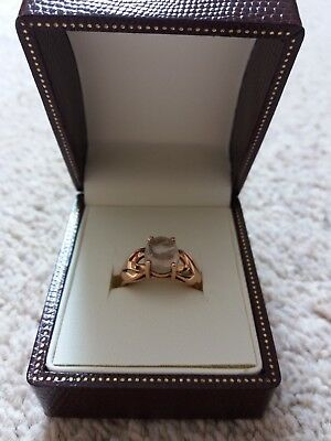 Reduced New & Unworn 9k Cats Eye Rose Gold Ring –Size T ½  Fab Piece of Jeweller