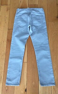 H&M GREY DENIM SLIM LEG JEANS Age 12-13 Years TROUSERS Adjustable Waist With Tag