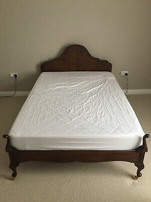 Antique 20 Century/ Restored/ Wooden Double Bed Frame
