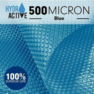 500Micron UV Stabilised Solar Swimming Pool Cover Bubble Blanket Heater Blue