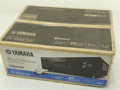 NEW Yamaha R-S202 Bluetooth Compatible Stereo Receiver 2 Channel, 100W / Channel