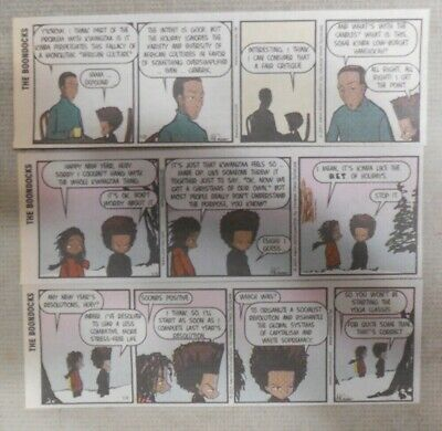 """(220) """"Boondocks"""" Dailies by Aaron McGruder 2001 Size: 2 x 6 inches Full Color!"""