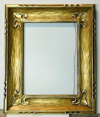 Vintage carved gold leaf frame 12 x 16. Courvoisier,san fran. label on back