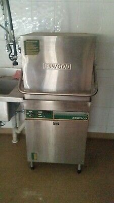 Eswood Commercial Dishwasher with sink and taps and trays - Used