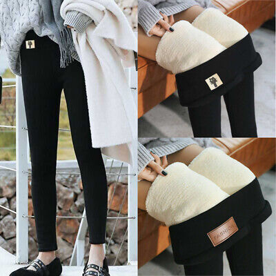 Women Winter Thick Fleece Lined Thermal Stretchy Skinny Leggings Pants Trousers