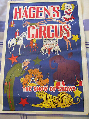 OLD HAGEN'S CIRCUS POSTER - 1950/1960's