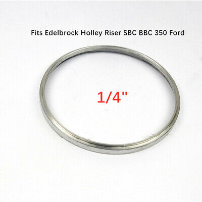 """2-1//4/"""" Aluminum Air Cleaner Spacer Riser Drop//Recessed Holley SBC BBC Ford 350"""