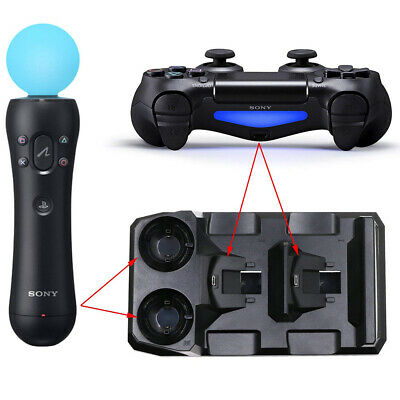 Portable 4 in 1 Video Game Controller Charger Dock Station For Playstation PS4