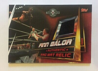 WWE Topps Slam Attax Universe Finn Balor Ring Mat Relic Card NXT Takeover
