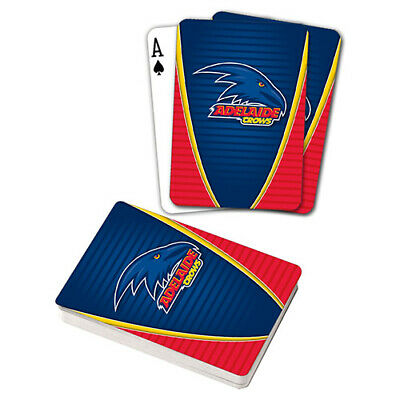 Afl Adelaide Crows Playing Cards Gift Boxed , Black Jack , Poker