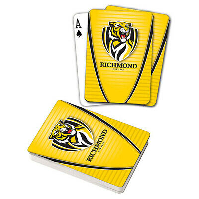 Afl Richmond Tigers Playing Cards Gift Boxed , Black Jack , Poker