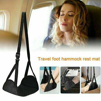 Comfy Hanger Travel Flight Airplane Foot Hammock Portable Leg Carry Rest Foam EG