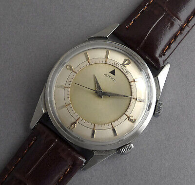 JAEGER LECOULTRE MEMOVOX Stainless Steel Vintage Alarm Watch 1960