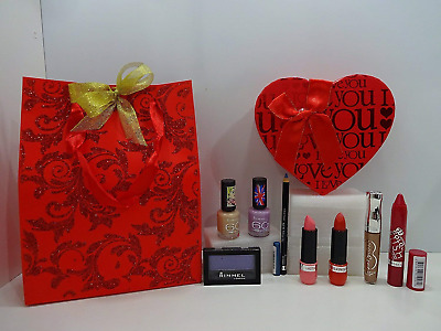 Rimmel London 8pc Make Up Glam Gift Box In Gift Bag Valentines Special Gift Set