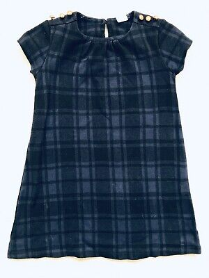 Girls Navy And Black Shift Short Sleeve Dress Age 5 Years Deom Next