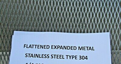 "1/4-#18-- 304 Stainless Steel Flattened Expanded Metal 12"" X 12"""