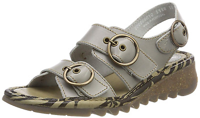 Fly London Ladies Tear 806fly Bridle Slingback Luxury Leather Sandals