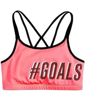 BNWT Girls Active Sports Crop Bra Top Size 7-8 years Exercise Gym Dance