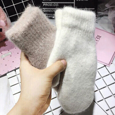 Winter Fashion Gloves Women Thick Warm Wool Full Finger Mittens For Female Lady