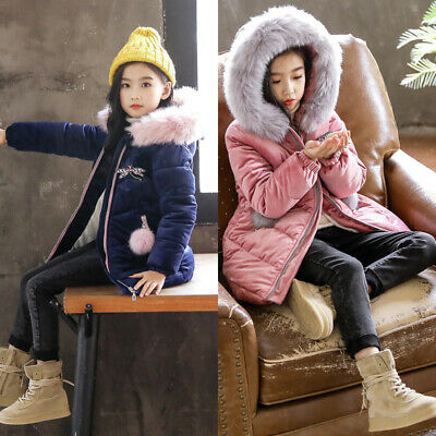 Children Jacket Tops Coat Girls Jacket Autumn Parka Tops Parka Long Sleeve