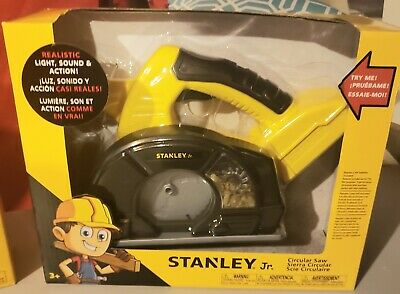 Stanley Jr. Circular Saw Lights up with Real Sound Tool Kids Toy Pretend Play