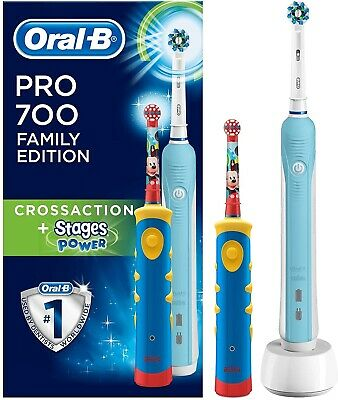 Oral-B PRO 600 Spazzolino Elettrico Ricaricabile CrossAction 3D Action Braun