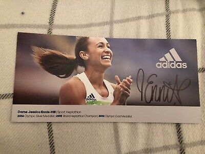 Jessica Ennis Hill (Olympics) Signed Publicity Card