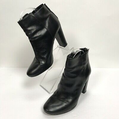 J Crew Collection Rory Leather High Heels Ankle Black Boots 02964