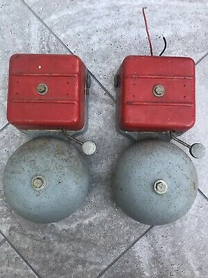 Vintage Pair Electric Bell Factory School Fire Gent Of Leicester 12 Volt Shop
