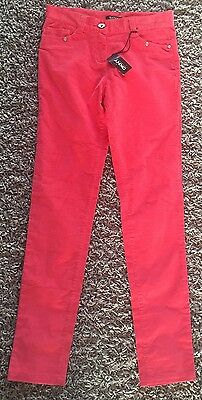 Girls DKNY Corduroy Coral Trousers Size 16 Years BNWT