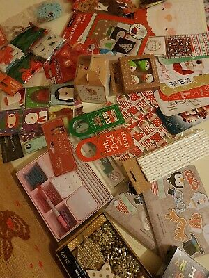 Joblot christmas selection fun - childrens - party, gift tags jute shopping bag