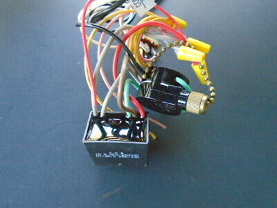 power sw./rev.switch/capacitor wiring harness 02 hunter ceiling fan new  parts plafondventilatoren huishoudapparatuur workbenchprojects.com  workbench projects
