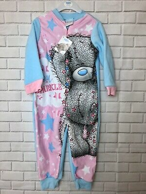 Girls Me To You Tatty Teddy All In One 1Onsie Sleepsuite Age 2-3 Years Sparkle